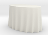 1:48 Draped Table - Small Oval 3d printed