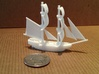 Lady Washington (aka HMS Interceptor) 3d printed With quarter to show scale
