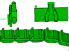 "1/87th Equipment track link set 1. 120 links 24"" w 3d printed"