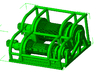 1/50th Heavy Truck Double Drum Winch w Guard 3d printed