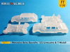 SET 2x Mercedes-Benz W123 (TT 1:120) 3d printed