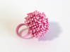Dandy Ring 3d printed White nylon custom dyed pale pink.