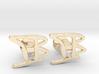 Custom Monogram Cufflinks - TB 3d printed