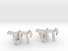 "Hebrew Cufflinks - ""Yachad"" 3d printed"