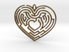 Heart Maze-shaped Pendant 4 3d printed