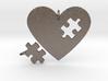 Heart Puzzle Pendants 3d printed