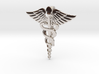 Caduceus Tie Bar (Metals) 3d printed