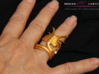 ALIENS Facehugger Ring Sz  8  3d printed