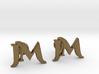 Monogram Cufflinks JM 3d printed