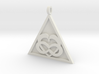 Triangle Infinity Heart Pendant 3d printed