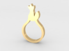 BEAU Ring 3d printed 14K Gold