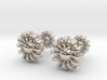 Cufflinks - Flowers 3d printed