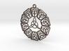 Triad Keychain Round 3d printed