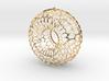 Honeycomb Torus Pendant 3d printed
