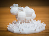 Funky sheep in a patch of funky grass 3d printed Sheep can be cool too..