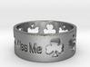 kiss me irish ring Ring Size 7 3d printed