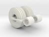 1:64 16.5Lx16.1 4 Rib Tire And Wheel Pair 3d printed