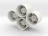 Losi 1/24th Micro Dish Wheels For Foam Tires 3d printed