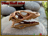 Mini Raptor Dinosaur Skull 3d printed Stainless Steel print