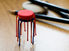 Dot Style Stacking Stool 1/12 scale 3d printed Red, Blue and Orange Strong and Flexible Plastic