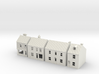 Topsham High Street buildings N Scale 1:148 3d printed