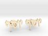 "Hebrew Name Cufflinks - ""Yosef"" 3d printed"