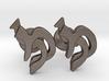 "Hebrew Monogram Cufflinks - ""Mem Lamed"" 3d printed"