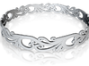 Silver Filigree Bracelet - Medium 3d printed