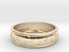 Size 7 Pet Paw Ring Engraved B  3d printed