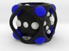 Dice No.2-c Blue S (balanced) (2.4cm/0.94in) 3d printed