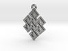 """Endless Knot"" Pendant, Cast Metal 3d printed"