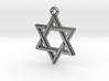 """Hexagram 2.0"" Pendant, Cast Metal 3d printed"