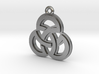 """Sacred Symmetry"" Pendant, Cast Metal 3d printed"