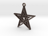 """Double Pentagram"" Pendant, Printed Metal 3d printed"