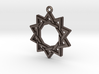 """Decagram 3.0"" Pendant, Printed Metal 3d printed"