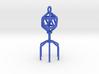 Bacteriophage Virus Pendant 3d printed
