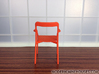 Branca Modern Designer Chair 1:12 scale 3d printed Orange Strong & Flexible Polished