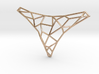 Polygon necklace 3d printed