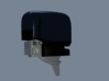 RC Outboard Cowl - modelled to fit OS Max 21-XM. 3d printed Render of cowl mounted on Outboard.