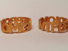 OMGWTFBBQLOL chunky block text ring! 3d printed