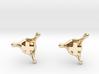PositiveXSplash stud earrings 3d printed