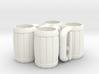 4 Mugs 3d printed