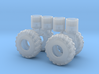 1/64th scale Log Skidder or construction tire 3d printed