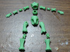 Tiny BJD Doll Twigling  3d printed parts laid out