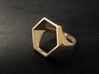 Hexagon Ring - Sz5 3d printed