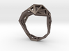 Slim Triangulated Ring in Metal 3d printed