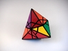 Fractured Tetrahedron Puzzle 3d printed One Turn