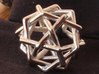 Six Tangled Pentagons 3d printed