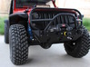 JK Winch Bumper - Gelände 2 3d printed Finished product with semi-gloss black paint and scale accessories.