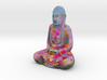 Textured Buddha: red petals. 3d printed
